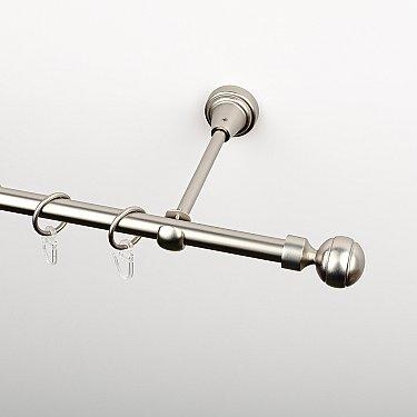 """Карниз металлический стыкованный, 1-рядный """"Каро"""", хром матовый, гладкая труба, ø 16 мм"""