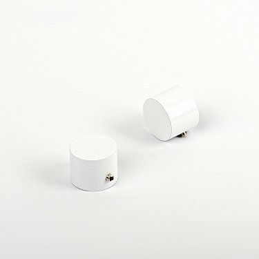 "Комплект заглушек ""Кап"", белый пиано, диаметр 19 мм"