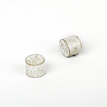 """Комплект заглушек """"Кап"""", белое золото, диаметр 19 мм"""