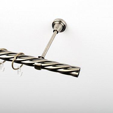 Карниз металлический стыкованный, 1-рядный, золото антик, крученая труба, ø 25 мм