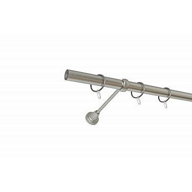 Карниз металлический 1-рядный хром матовый, гладкая труба, ø25 мм