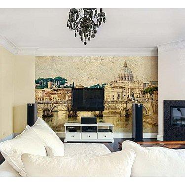 """Фотофреска на стену штукатурка """"Мост Сан-Анджело"""", 390*270 см"""