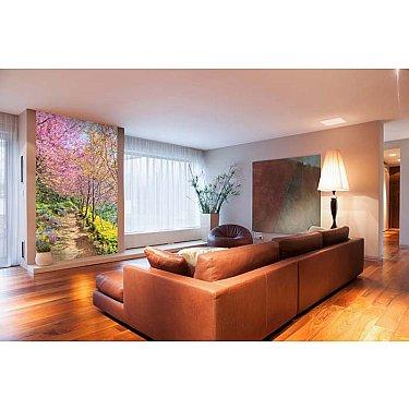 """Фотофреска на стену живопись """"Весенняя дорога"""", 130*270 см"""