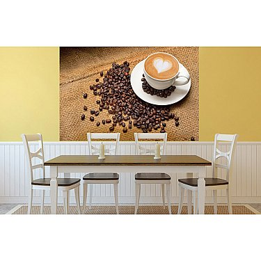 """Фотопанно холст """"Чашка кофе"""", 200*147 см"""