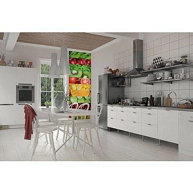 """Фотопанно холст """"Фрукты и овощи"""", 100*270 см"""