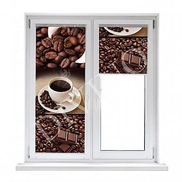 """Рулонная штора лен """"Кофейные зерна"""""""