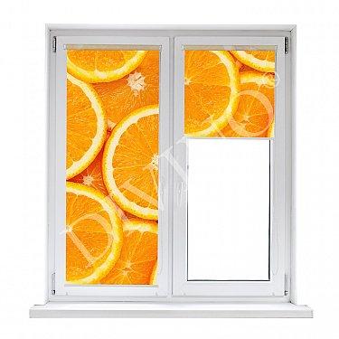 """Рулонная штора лен """"Апельсиновый фон"""""""