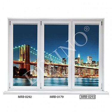 "Рулонная штора лен ""Бруклинский мост-3"", 52 см-A"