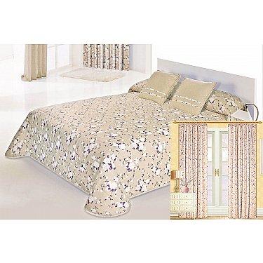 """Комплект для спальни """"Доминика"""", фиолетовые цветы"""