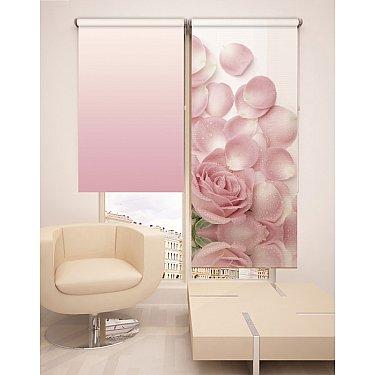 Рулонная штора ролло №23, розовый