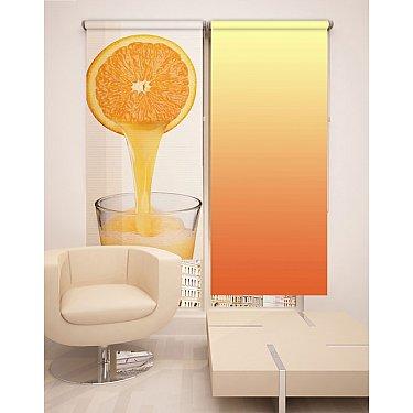 Рулонная штора ролло №2, оранжевый