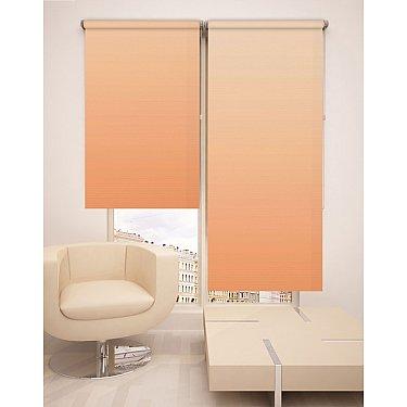 Рулонная штора ролло №261, оранжевый, 60 см