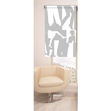 Рулонная штора ролло №389, мультиколор, 60 см