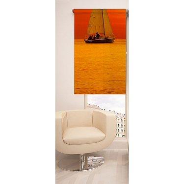 Рулонная штора ролло №7, оранжевый, 60 см