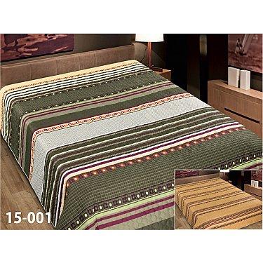 Покрывало Elegant (пэчворк) №15-001, зеленый, коричневый