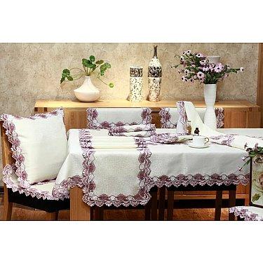 Салфетка ABT дизайн 03, белый, розовый