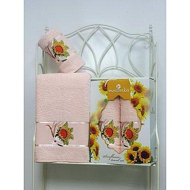 Комплект махровых полотенец Merzuka Sunflower дизайн 08 (50*80; 70*130)