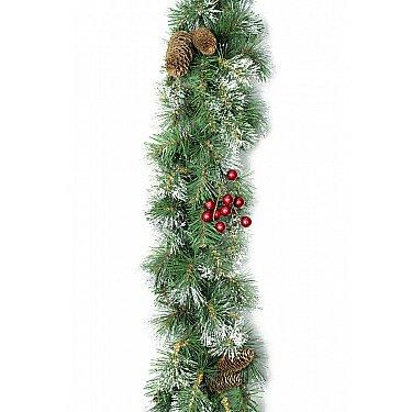 Гирлянда еловая Bright с шишками и ягодами 2,7 м