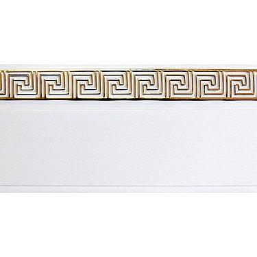"""Карниз потолочный пластиковый без поворота """"Греция"""", 2 ряда, белый"""