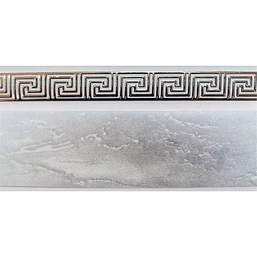 """Карниз потолочный пластиковый без поворота """"Греция"""", 2 ряда, белый мрамор, 240 см-A"""