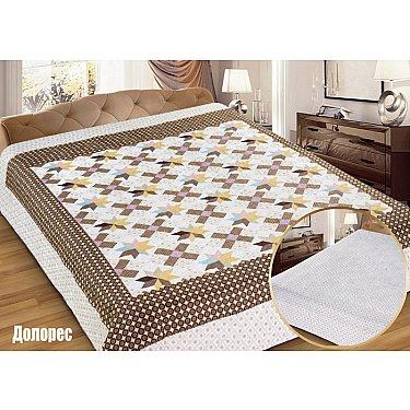 """Одеяло-покрывало I.M.A. Gold """"Долорес"""", белый, коричневый"""