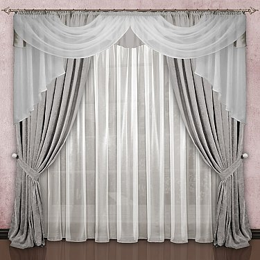 Комплект штор №033, серый