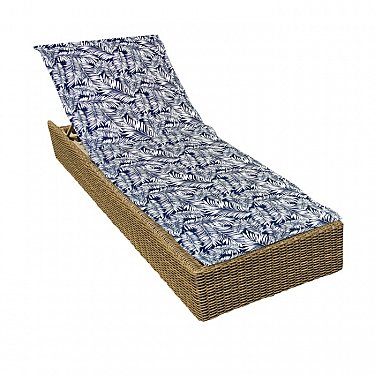 "Подушка на шезлонг ""Blue Palma"", дизайн 190"