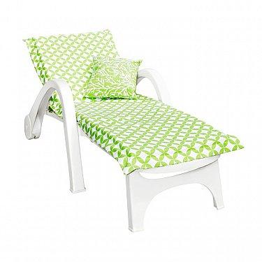 """Подушка на шезлонг """"Green Round"""", дизайн 190"""