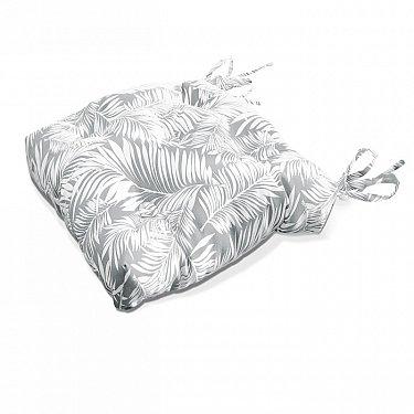 "Подушка на стул ""Grey Palma"", дизайн 140"