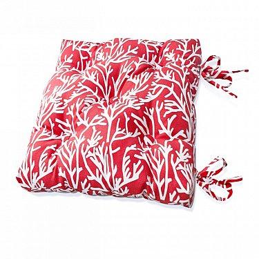 "Подушка на стул ""Red Corals"", дизайн 140"