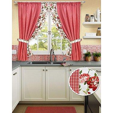 """Комплект штор на тесьме """"Red Kimberly-S"""", дизайн 175-A"""
