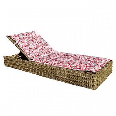 "Подушка на шезлонг ""Red Palma"", дизайн 190"