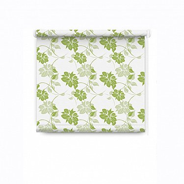 """Рулонная штора ролло """"Цветы"""", зеленый, 120 см"""