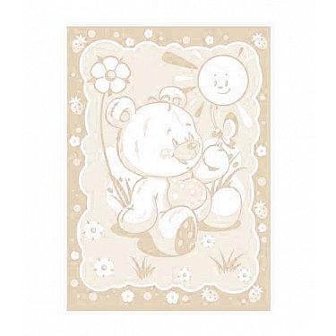 """Одеяло детское """"Медвежонок"""", бело-беж 100*140 см"""