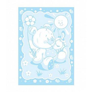 """Одеяло детское """"Медвежонок"""", бел-голуб 100*140 см"""