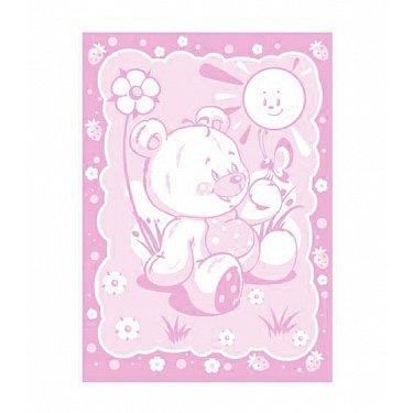 """Одеяло детское """"Медвежонок"""", бел-розов 100*140 см"""