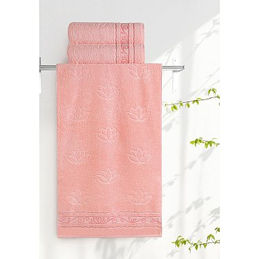 """Полотенце """"Aquarelle Лотос"""", розово-персиковый"""