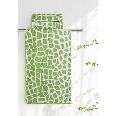 "Полотенце ""Aquarelle Мадагаскар жираф"", белый, травяной"