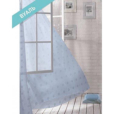 Комплект штор ЛОФТ Вуаль Plume, голубой, 270 см