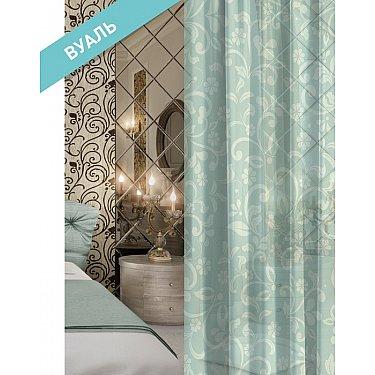 Комплект штор ВЕРСАЛЬ Вуаль Flowerlush, бирюзовый, 270 см