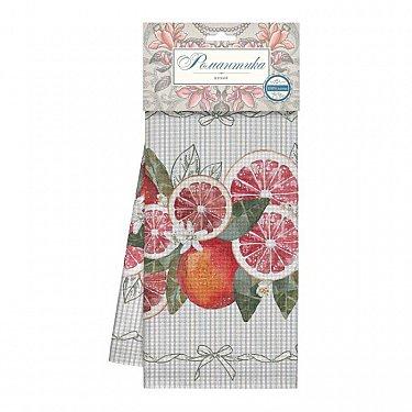 Комплект полотенец вафельных 50*70 (3шт) 'Романтика' Грейпфрут