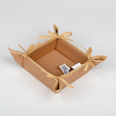 """Декоративная корзинка-салфетка """"Анита"""" - 3, коричневый, 27*27 см"""