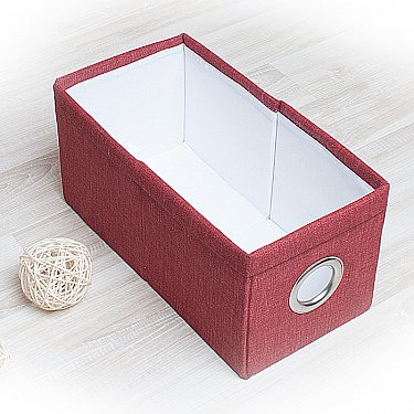 """Декоративная корзинка """"Фальсо-1"""", малая, бордовый"""