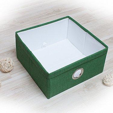"""Декоративная корзинка """"Фальсо-3"""", средняя, зеленый"""