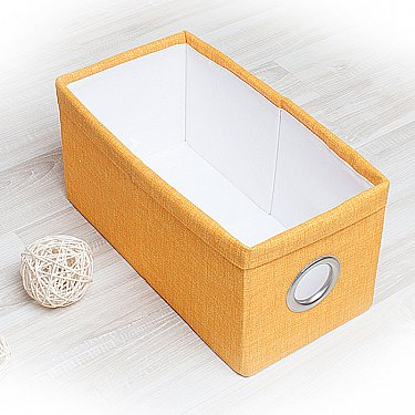 "Декоративная корзинка ""Фальсо-4"", малая, желтый"