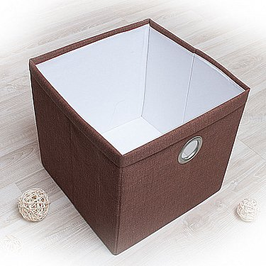 """Декоративная корзинка """"Фальсо-6"""", большая, коричневый"""