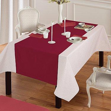 """Дорожка на стол """"Анита""""-5, бордовый"""