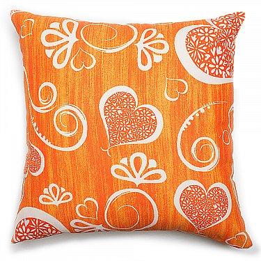 "Декоративная подушка ""Амур""-2, оранжевый"
