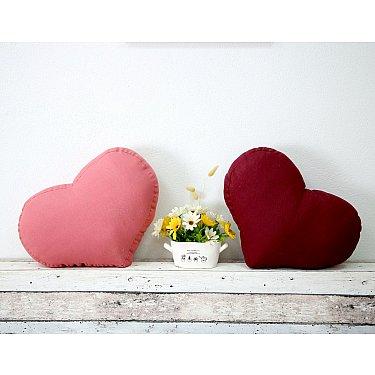 """Декоративная подушка-сердце """"Анита""""-2, коралловый"""