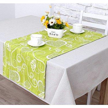 """Дорожка на стол """"Амур""""-3н, салатовый"""